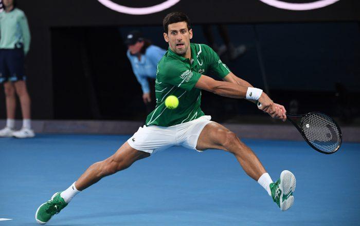 Novak Djokovic auf dem Hartplatz