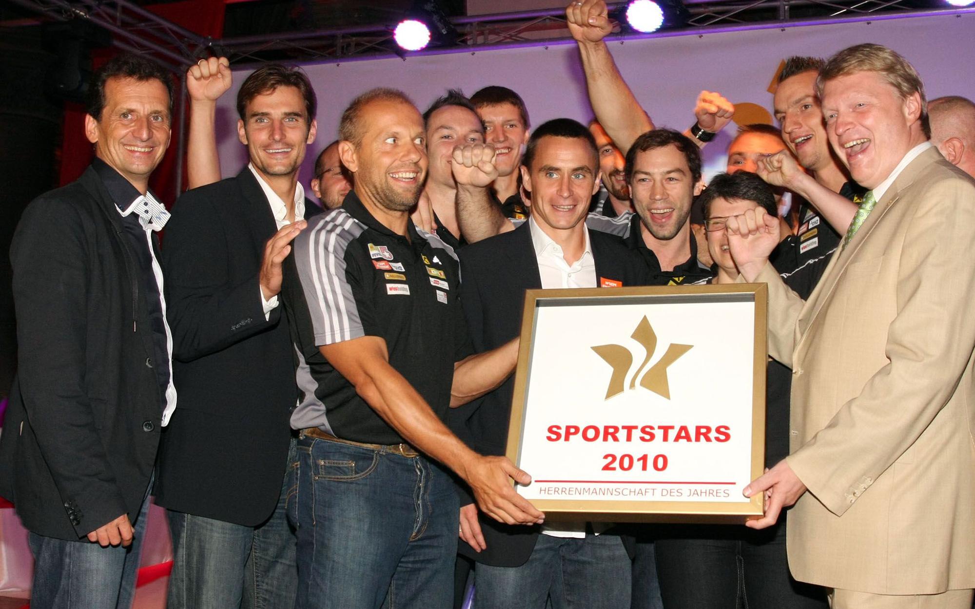 Gruppenfoto Sportstars 2010