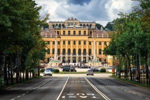 Blick auf das Schloss Schönbrunn