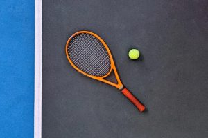 Ein Squash-Schläger